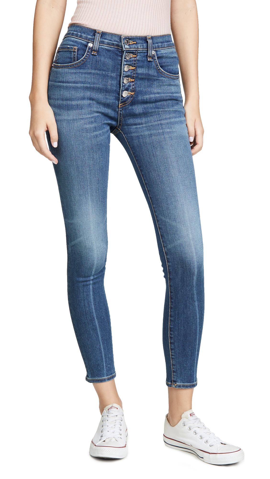 Buy Veronica Beard Jean online - photo of Veronica Beard Jean Debbie High Rise Skinny Long Jeans