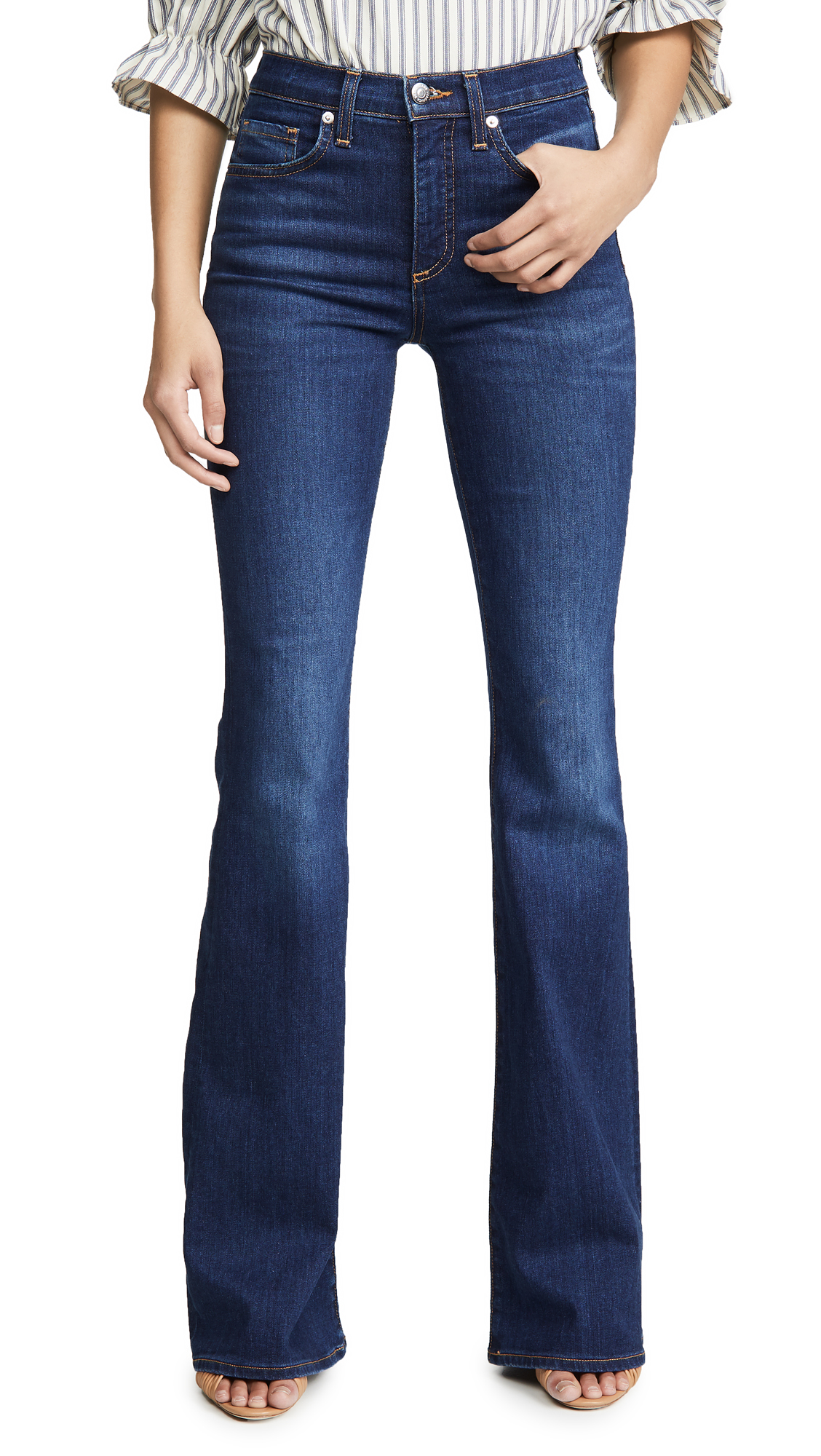 Buy Veronica Beard Jean online - photo of Veronica Beard Jean Beverly High Rise Skinny Flare Jeans