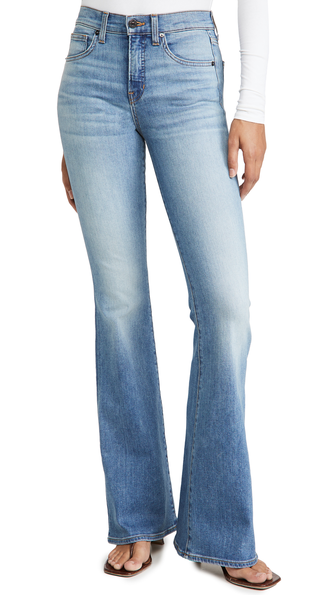 Veronica Beard Jean Beverly High Rise Flare Skinny Jeans