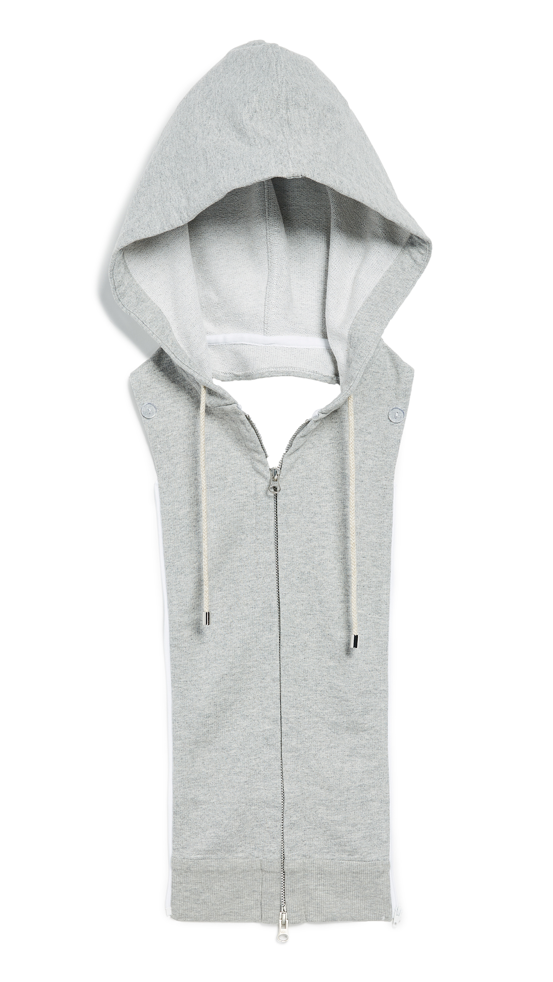 Veronica Beard Hoodie Dickey - Heather Grey