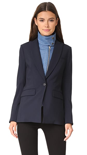 Veronica Beard Long & Lean Jacket with Denim Dickey