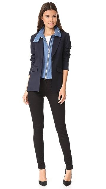 Veronica Beard Long & Lean Jacket with Denim Dickey