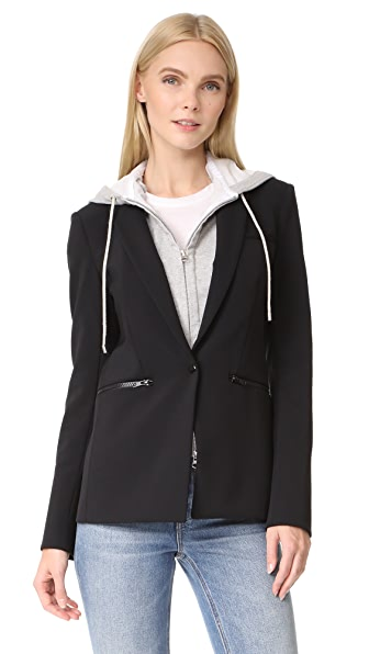 Veronica Beard Blazer with Hooded Dickey at Shopbop