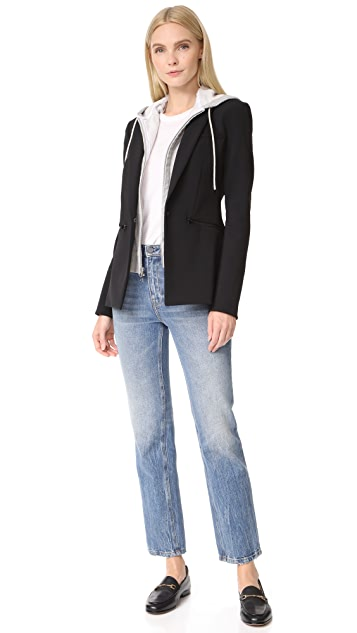 Veronica Beard Blazer with Hooded Dickey