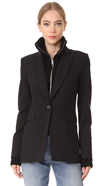 Veronica Beard Long & Lean Jacket with Black Upstitch at Shopbop