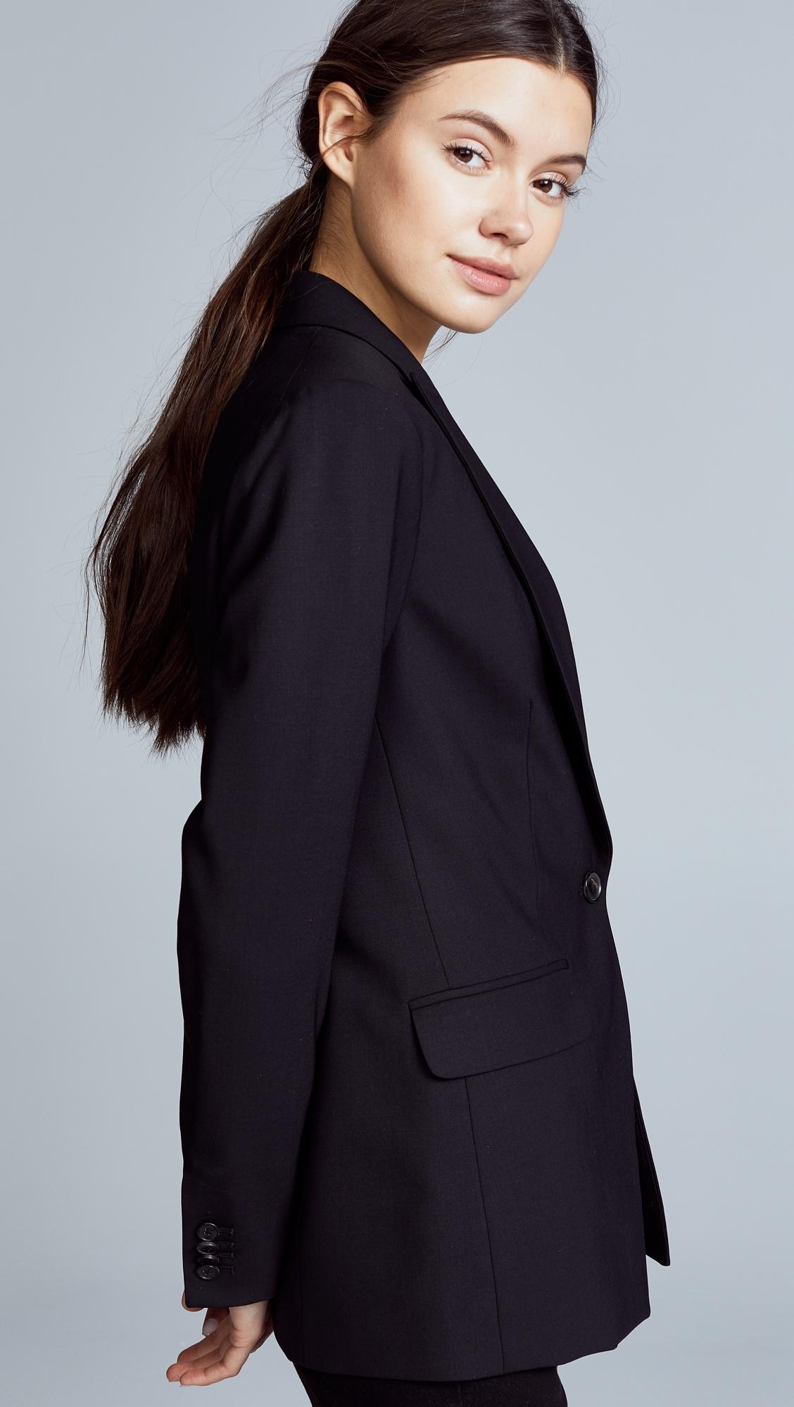 Пиджак Long & Lean с черной отстрочкой сверху Veronica Beard  (VBEAR3025515724171)