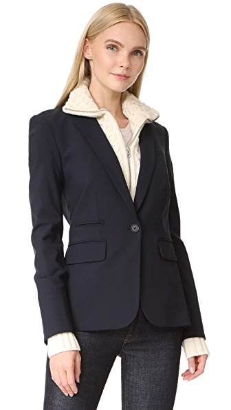 Veronica Beard Classic Wool Jacket with Upstate Dickey at Shopbop