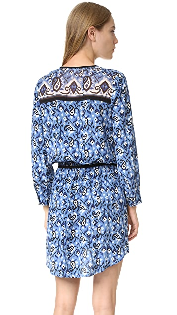 Veronica Beard Venice V Neck Tie Waist Dress