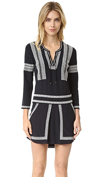 Veronica Beard Ignacio Embroidered Dress