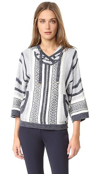 Veronica Beard Rancho Hooded Sweater