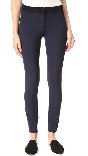 Veronica Beard Scuba Skinny Pants - Dark Navy