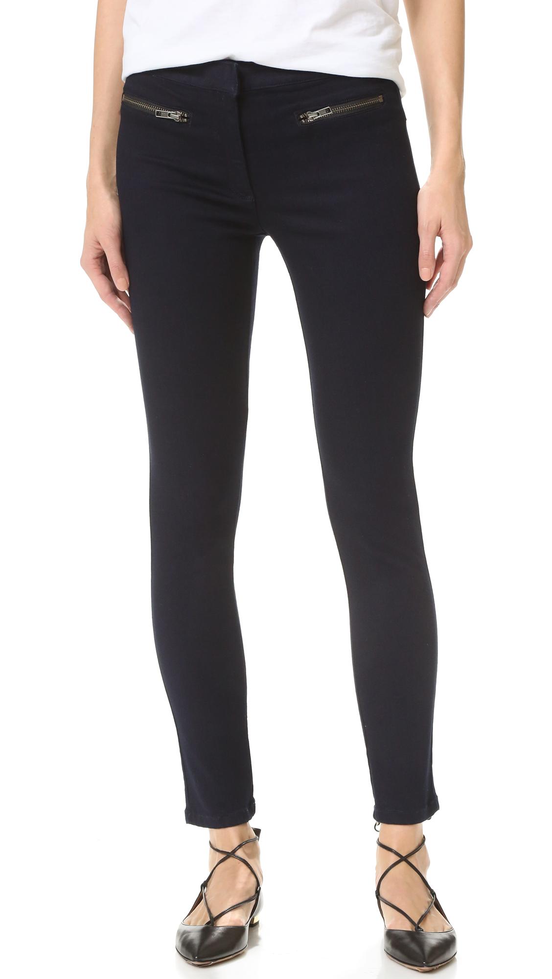 Veronica Beard Skinny Zip Cropped Jeans - Indigo