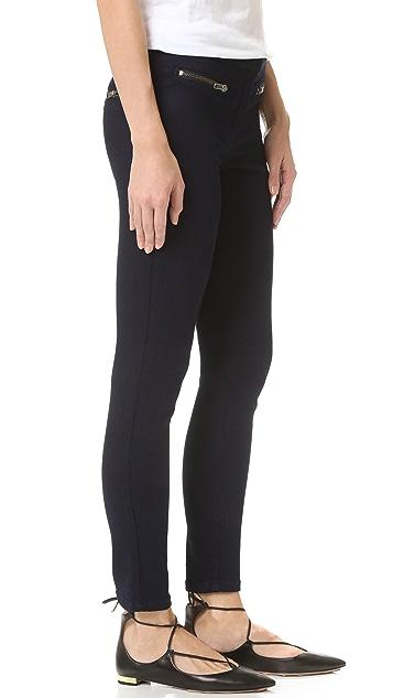 Veronica Beard Skinny Zip Cropped Jeans