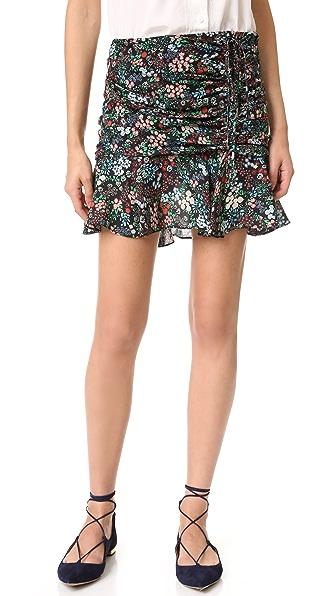 Veronica Beard Violet Ruffle Hem Miniskirt