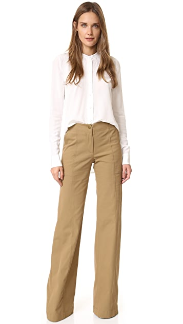 Veronica Beard Wanderlust Wide Leg Utility Pants