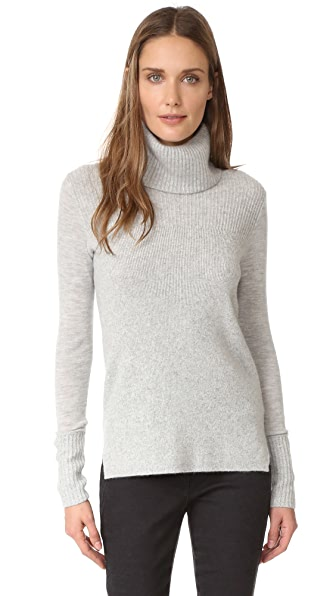 Veronica Beard Asa Ribbed Turtleneck
