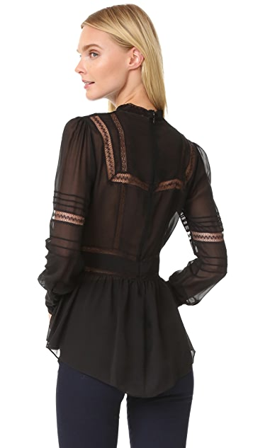 Veronica Beard Lakewood Lace Victorian Blouse