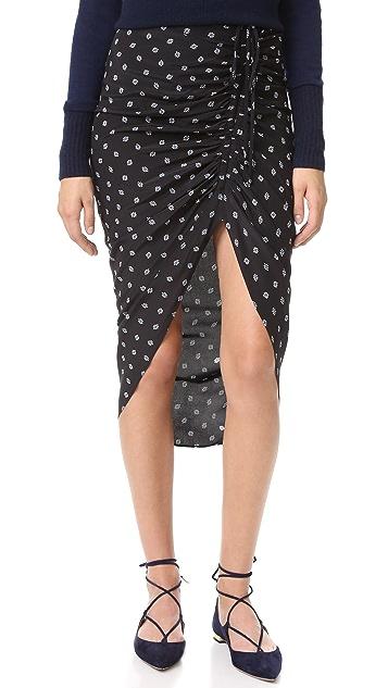 Veronica Beard Ari Ruched Drawstring Skirt