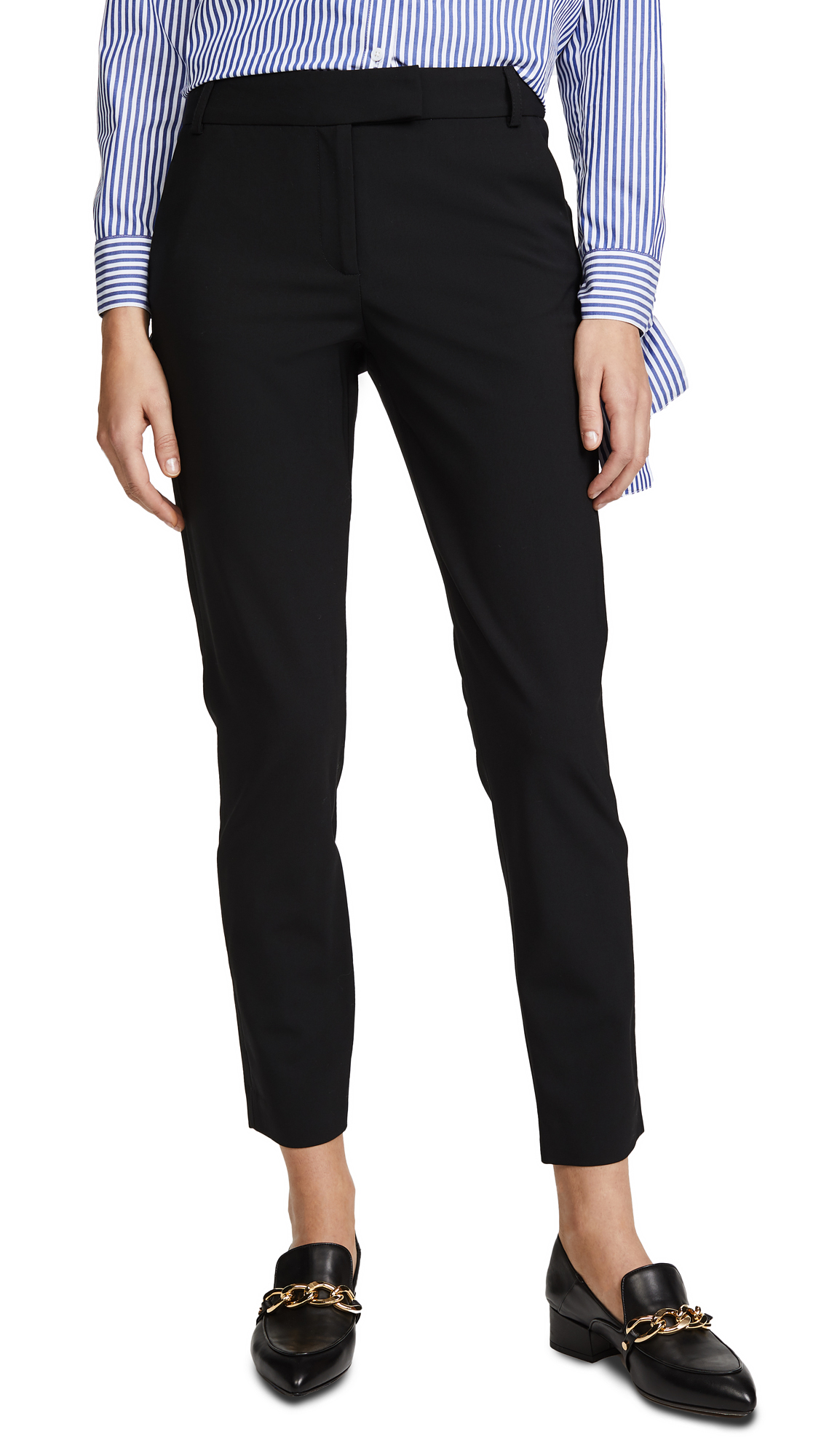 Veronica Beard Slim Cigarette Pants - Black