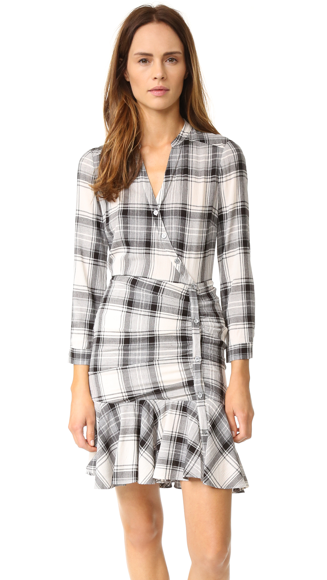 Veronica Beard Ruched Shirtdress Shopbop