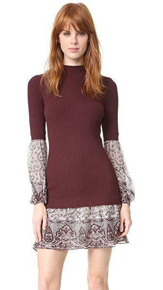 Veronica beard sweater shirt combo dress shopbop for Sweater and dress shirt combo