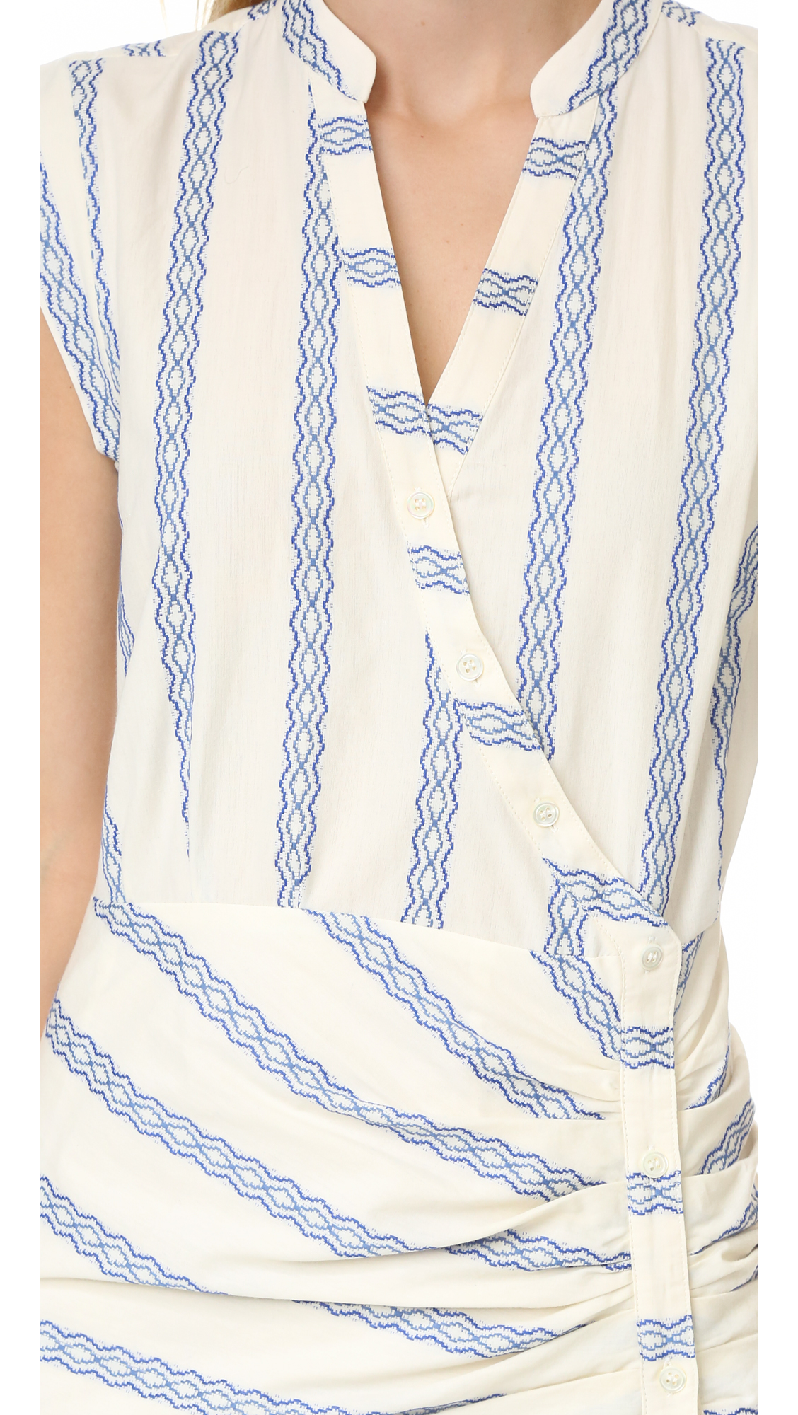 133cd1cacf1 Veronica Beard Piece   Co Ruched Shirtdress