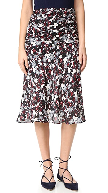 Veronica Beard Madison Flared Midi Skirt
