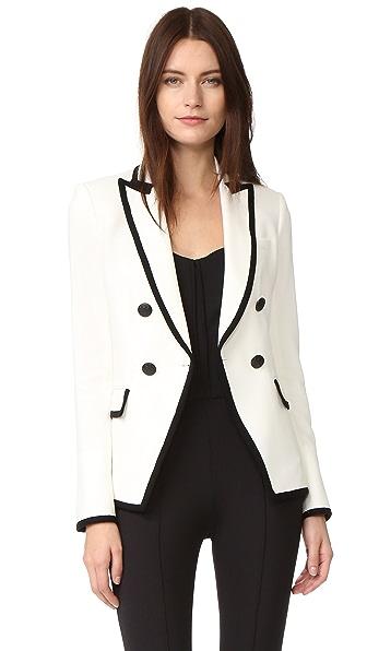 Veronica Beard Harriet Cutaway Contrast Blazer
