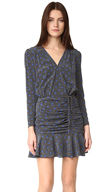 Veronica Beard Lou Lou Ruched Flounce Dress