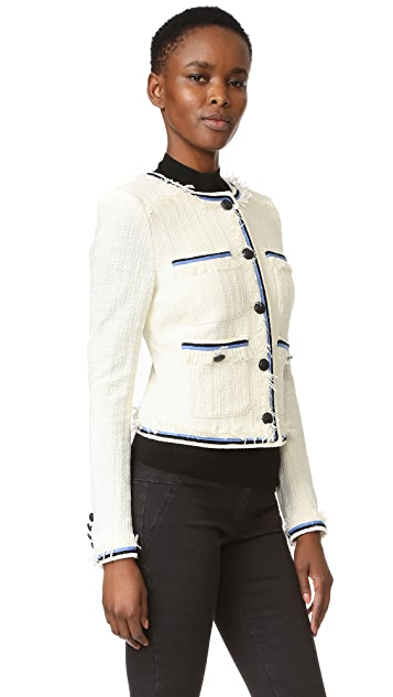 Veronica Beard Eclipse Contrast Fringe Jacket