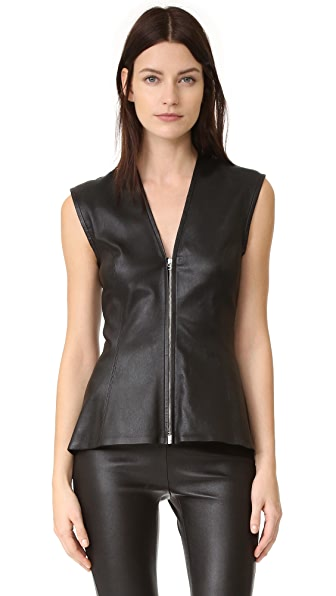 Veronica Beard Midnight Peplum Top - Black