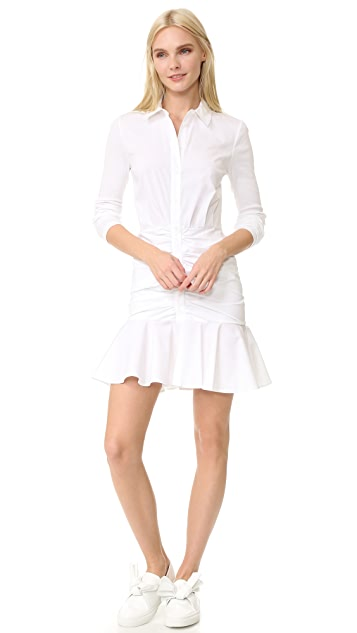 Veronica Beard Century Baby Rib Short Dress
