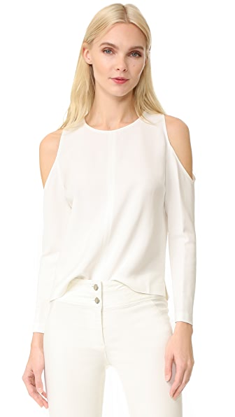 Veronica Beard Knight Cold Shoulder Keyhole Top