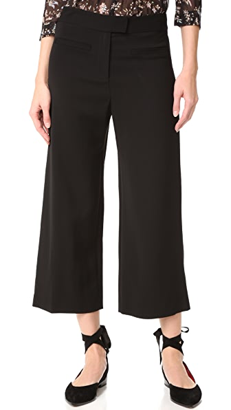 Veronica Beard Lee Cropped Wide Leg Pants