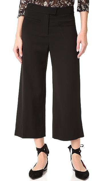 Veronica Beard Lee Cropped Wide Leg Pants