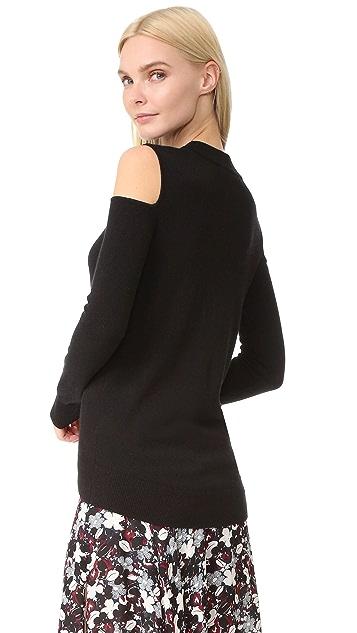 Veronica Beard Central Cold Shoulder Cashmere Sweater