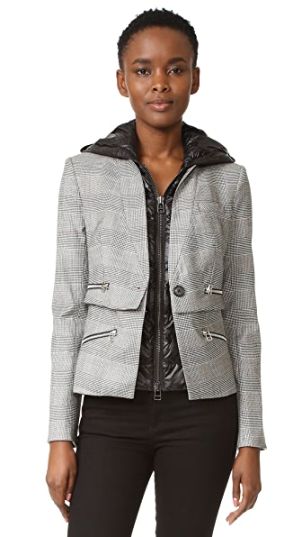 Veronica Beard Puffer Hooded Dickey - Black