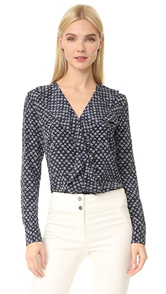 Veronica Beard Hart Button Down Top