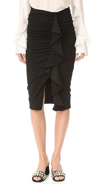 Veronica Beard Drew Cascade Ruffle Skirt