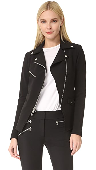 Veronica Beard Scuba Hadley Jacket - Black