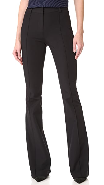 Veronica Beard Hibiscus Flare Pants - Black