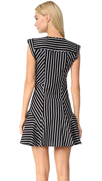 Veronica Beard Fit & Flare Utitlity Dress