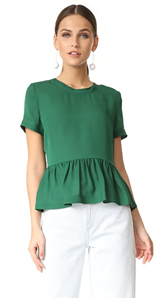 Veronica Beard Betts Scoop Neck Top
