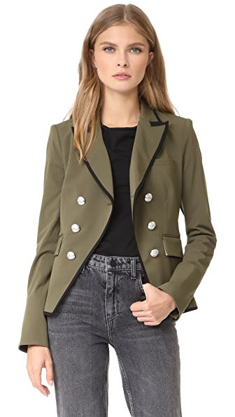 Veronica Beard William Cutaway Dickey Jacket - Army Green