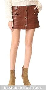 Monroe Leather Cargo Skirt Veronica Beard
