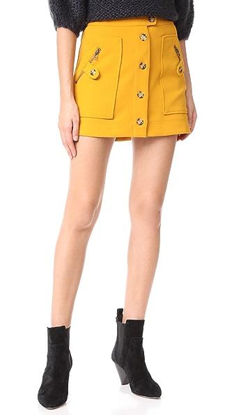 Veronica Beard Monroe Cargo Miniskirt In Saffron