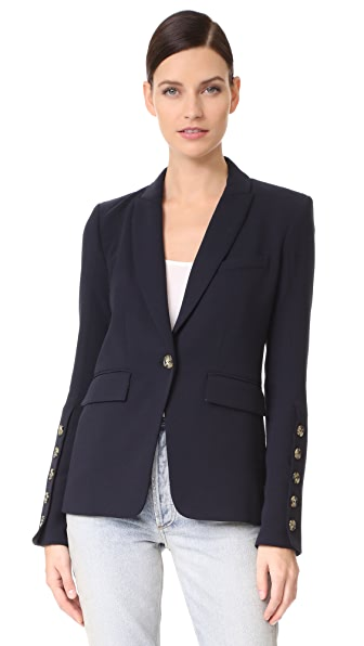 Veronica Beard Steele Cutaway Button Cuff Jacket