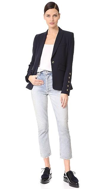 Veronica Beard Steele Cutaway Button Cuff Jacket