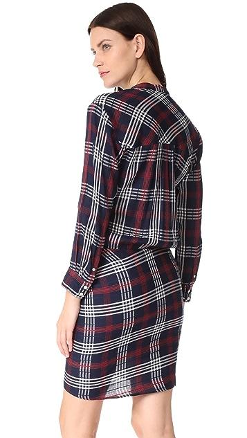 Veronica Beard Emory Ruched Cargo Shirtdress