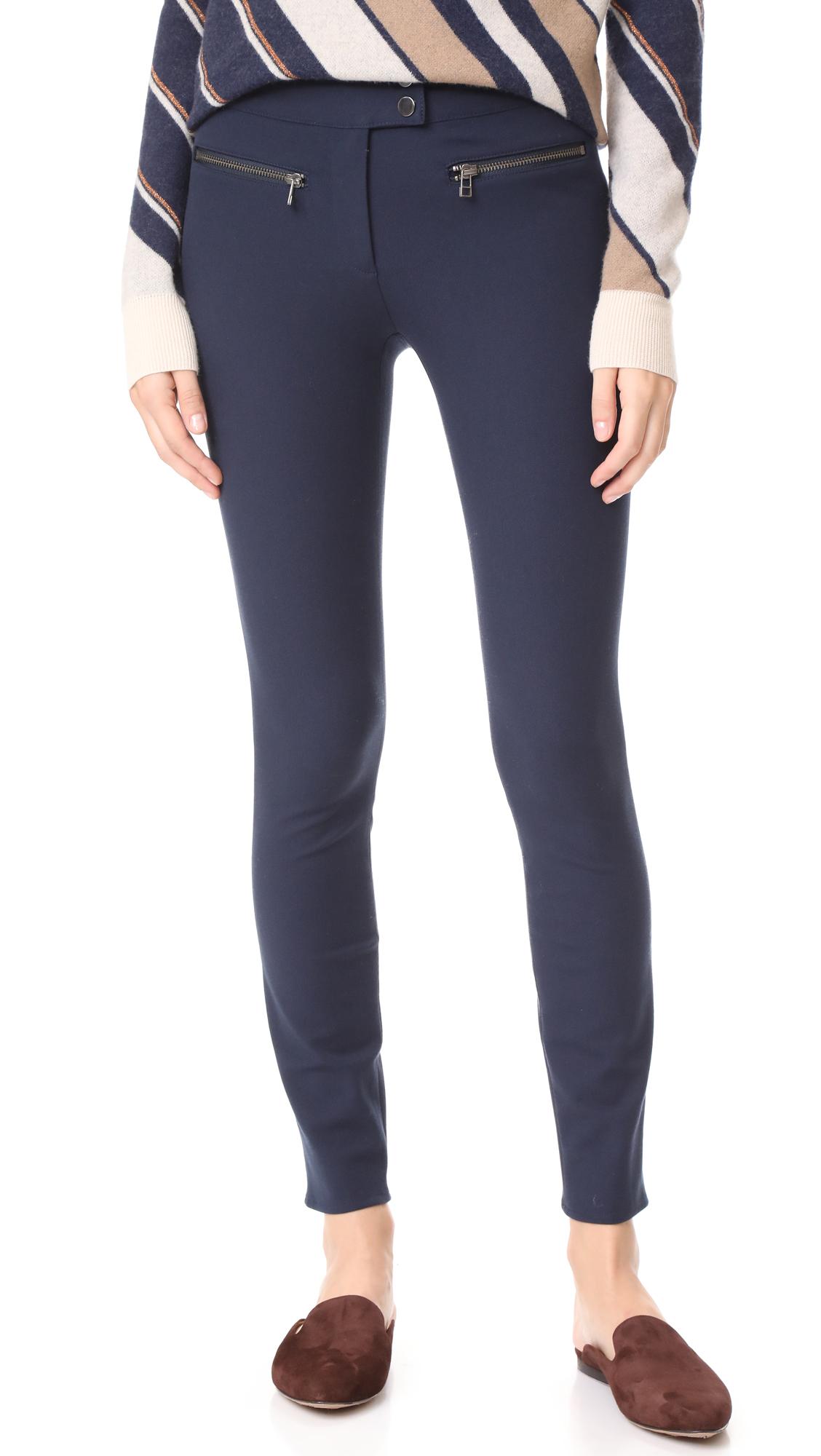 Veronica Beard Full Length Skinny Pants - Navy